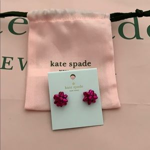 NWT Kate Spade Pink Bow Stud Earrings